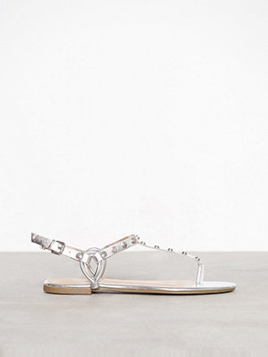 New Look Studded Strap Flat Sandals Silver