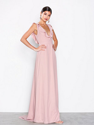 NLY Eve V-Neck Frill Gown Rose