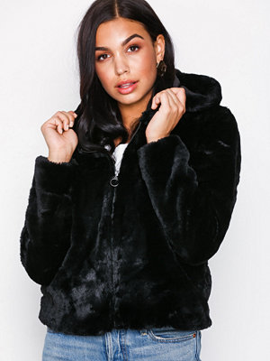 Only onlCHRIS Fur Hooded Jacket Cc Otw Svart