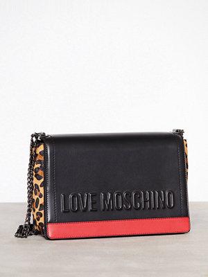 Love Moschino axelväska med tryck JC4136PP16LX1 Svart