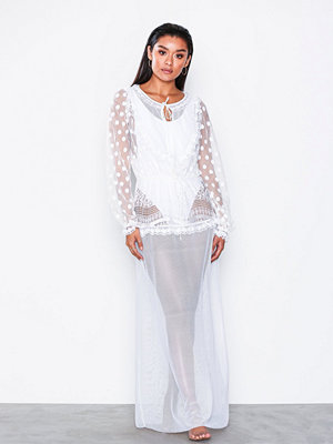 For Love & Lemons Trinidad Maxi Cover Up Vit