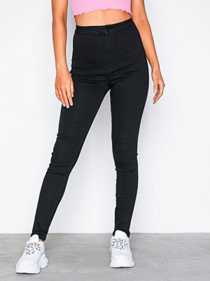 Missguided Vice High Waisted Skinny Jeans Black