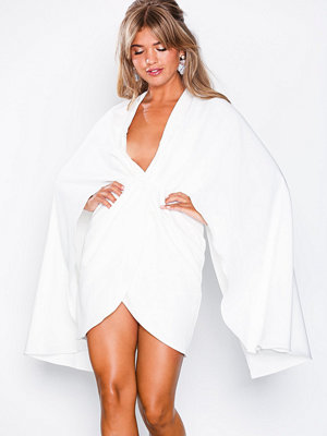 Missguided Cape Plunge Mini Dress White