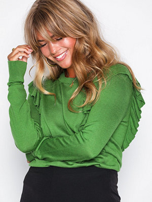 MICHAEL Michael Kors Ruffle Sweater Green