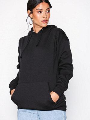 Street & luvtröjor - Missguided LongLine Pullover Hoodie Black