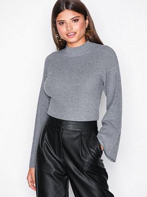 NLY Trend Cross Back Knit Grey Melange