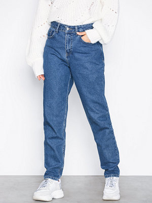 NLY Trend High Waist Vintage Denim Mid Blue