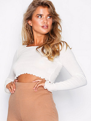 NLY Trend Crop Rib Top Vit