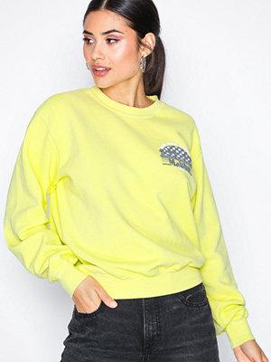 Topshop Malibu Sweat Top Yellow