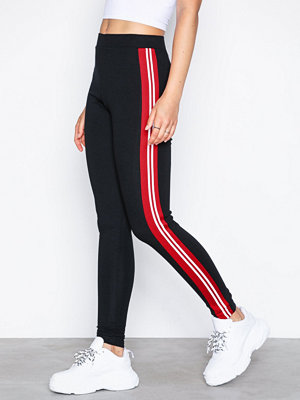 Topshop Side Striped Leggings Black