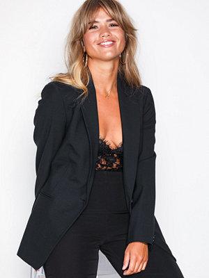 Selected Femme Slfpila Pino Long 1 but 2 Blz Black Svart