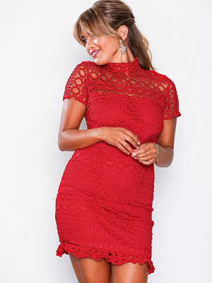 Love Triangle Double Dolce Mini Dress Red