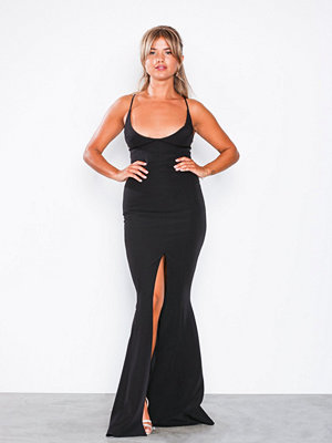 Missguided Cami Fishtail Maxi Dress Black