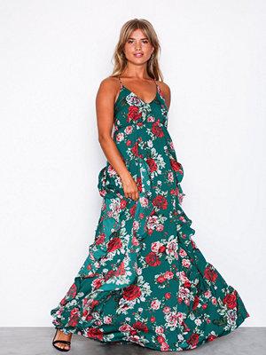 Vila Visibylle S/L Maxi Dress Mörk Grön