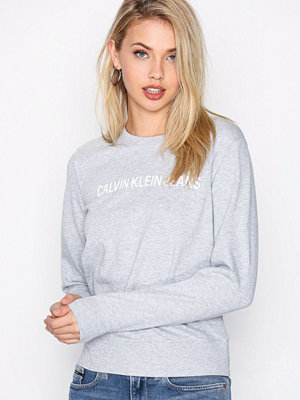 Calvin Klein Jeans Institutional Logo Sweatshirt Light Grey