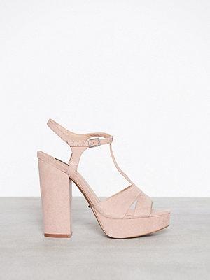Only onlALLIE Strap Heeled Sandal Rosa