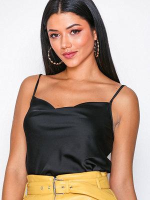 New Look Satin Cowl Neck Cami Black