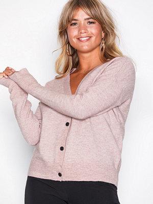 Selected Femme Slfhelka Ls Knit Cardigan Noos Ljus Rosa