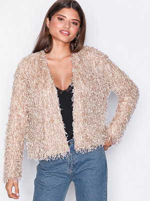 NLY Trend Feather Look Cardigan Rosa