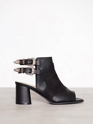 Missguided Western Buckled Heeled Sandal Black