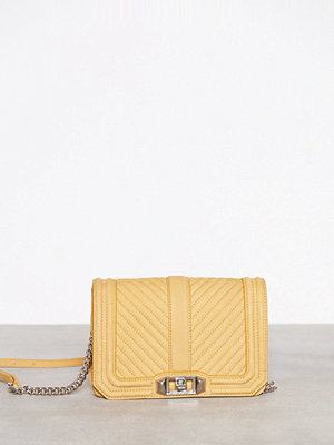 Rebecca Minkoff gul axelväska Small Love Crossbody Butterscotch