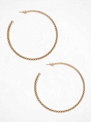 River Island örhängen Large Chain Twist Hoop Gold