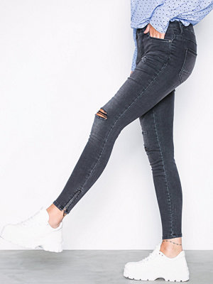 Noisy May Nmkimmy Nr Ankle Zip Jeans AZ004MG Grå