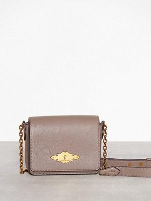 Polo Ralph Lauren ljusgrå axelväska Chain Crossbody Small Taupe