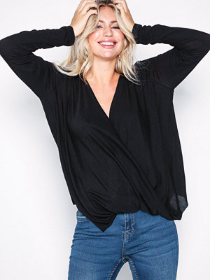 Vila Vinexa L/S Wrap Top-Noos Svart