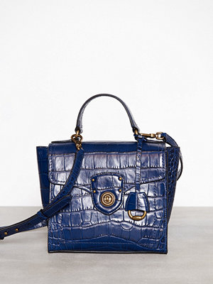 Lauren Ralph Lauren marinblå axelväska Top Handle Small Satchel