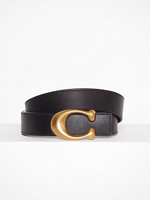 Coach 32mm Sculpted C Reversible Belt Svart