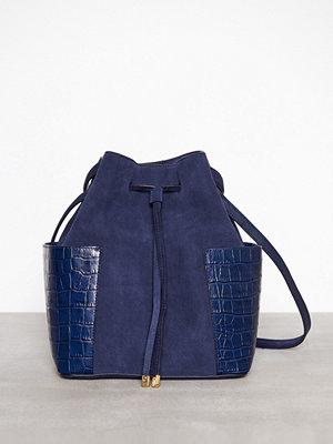 Handväskor - Lauren Ralph Lauren Debby Drawstring Medium Navy