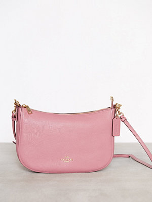 Coach omönstrad axelväska Polished Pebble Lthr Chelsea Crossbody Rose