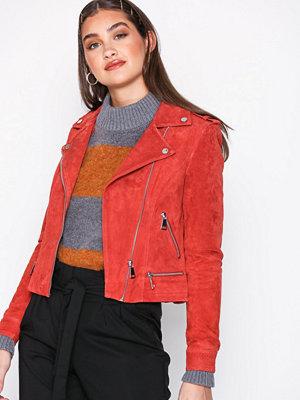 Vero Moda Vmroyce Short Suede Jacket Col Ljus röd