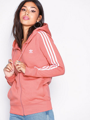 Adidas Originals 3 Stripes Zip Hoodie Rose