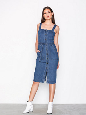 Vero Moda Vmjulia Denim Dress Mörk Blå