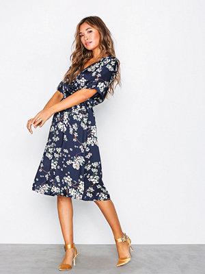 Jacqueline de Yong Jdyelliot S/S Wrap Dress Wvn Mörk Blå