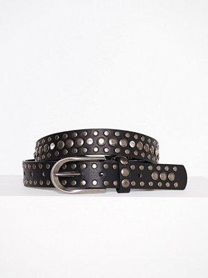 Bälten & skärp - Missguided Thin Metallic Detail Belt Black