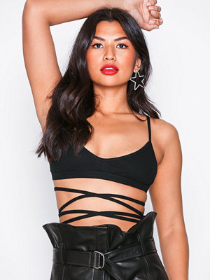 Motel Wrap Around Bralet Black