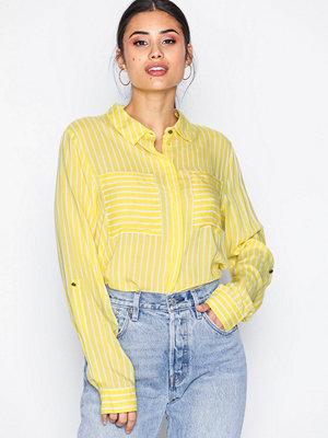 Jacqueline de Yong Jdyelaine L/S Stripe Shirt Wvn Mörk Gul