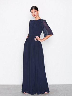 NLY Eve Open Back Kimono Gown Navy