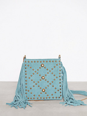 River Island turkos axelväska Tassle Crossbody Bag Light Green