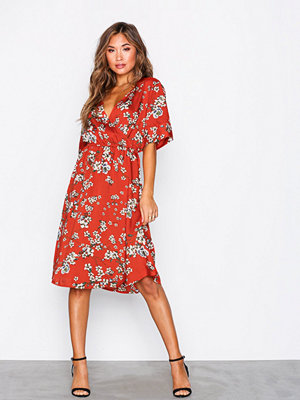 Jacqueline de Yong Jdyelliot S/S Wrap Dress Wvn Röd