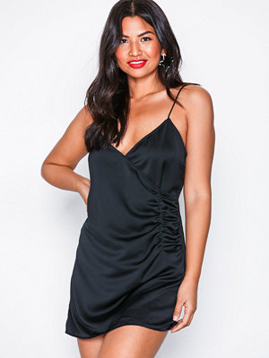 Motel Bartier Satin Dress Black