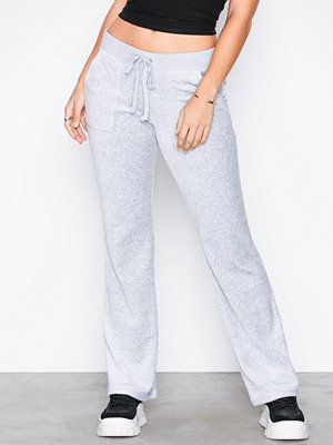 Juicy Couture byxor Velour Del Rey Pant White