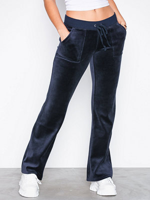 Juicy Couture byxor Velour Del Rey Pant Navy