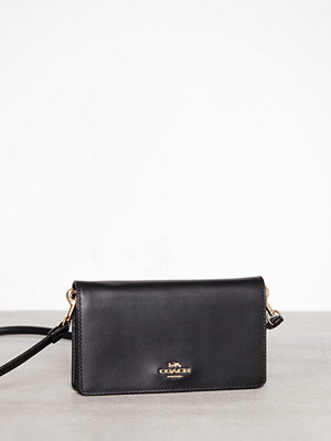 Coach Smooth Leather Slim Phone Crossbody Svart axelväska