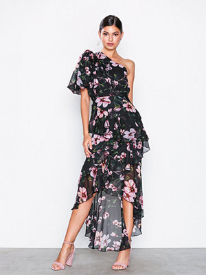 NLY Eve Dropped Frill Dress Blommig