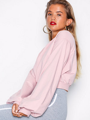 NLY Trend Short Balloon Sweat Rosa