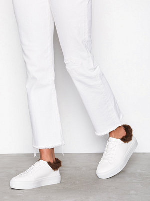 NLY Shoes Fuzz Ankle Sneaker Vit